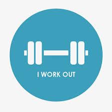 『I work out at least three times a week.』外で仕事をするのではありません。